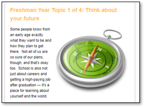 Screenshot of first page of the freshman Guide