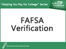 Screenshot of FAFSA verification