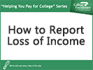 Screenshot of how to report loss of income