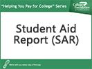 Screenshot of Student Aid Report